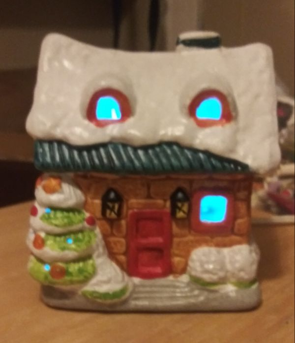 Light up christmas house & other decorations
