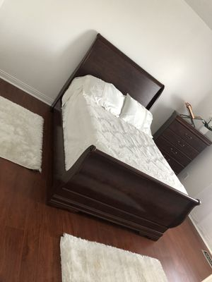 Full size Brown wooden bed frame for Sale in SUGARCRK Township, OH