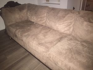 Tan sectional couch for Sale in Tampa, FL
