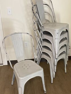 6 Kitchen Table Chairs (light Gray) for Sale in Seattle,  WA
