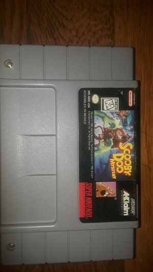 Scooby doo mystery game super nintendo for Sale in Cleveland, OH