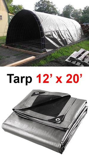 New $25 Heavy Duty 12'x20' 10mil Canopy Poly Tarp Reinforced Tent Car Boat Cover Tarpaulin for Sale in Whittier, CA