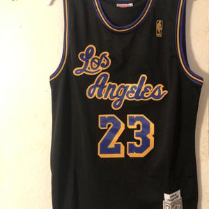 Black Purple And Gold Lakers LeBron James NBA Jersey for Sale in Bellevue, WA