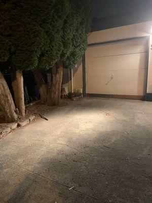 Free older garage door! 8' wide 7 ' tall! Will be taken off tomorrow! for Sale in Sumner, WA