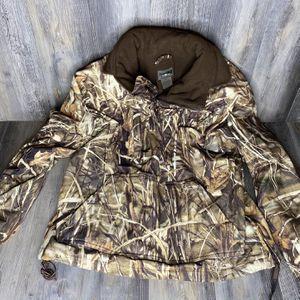 Drake Waterfowl Full Zip Men's Jacket Sz Medium Advantage Max-4 HD Camo Hooded for Sale in Charlotte, NC