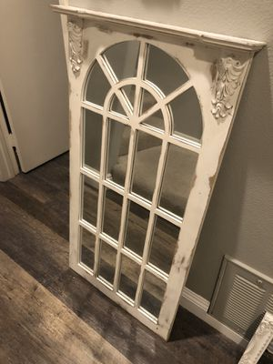 White Shabby Chic Mirror for Sale in Laguna Beach, CA