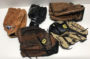 "Used Baseball gloves lot of 5, 9"", 11.5"", 12.5"", 13"". Great condition for Sale in Denver, CO"