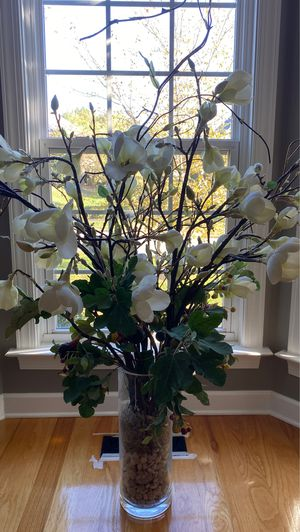 Artificial flower vase for Sale in Brentwood, TN