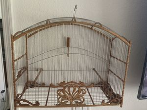 Handmade hand craved BIRD CAGE 20x15 inches for Sale in Hialeah, FL