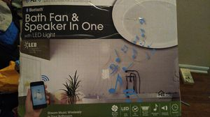 Home netwerks Bluetooth bathroom fan and speaker and with LED light for Sale in Mableton, GA