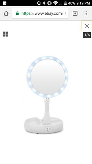 Vanity LED 10x/1x double sided mirror for Sale in Meeker, OK