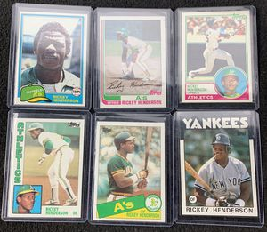 Rickey Henderson baseball cards for Sale in Hayward, CA