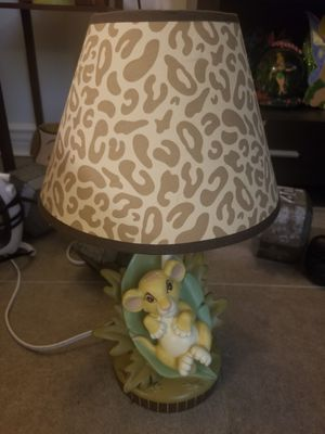 "Disney Rare VHTF The Lion King Baby Simba Lamp 16"" Works Great, Excellent Condition for Sale in Los Angeles, CA"