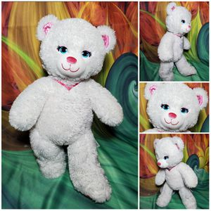 """16"""" Build a Bear Forever Princess Sparkle White Teddy Metallic Pink Plush BABW for Sale in Dale, TX"""