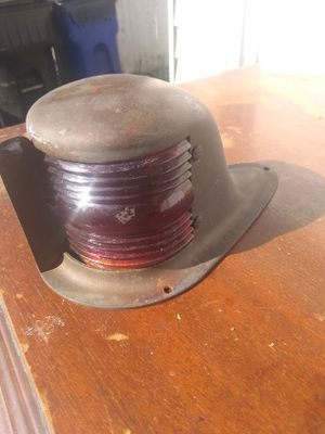 Vintage glass and bronze boat light for Sale in Parma, OH