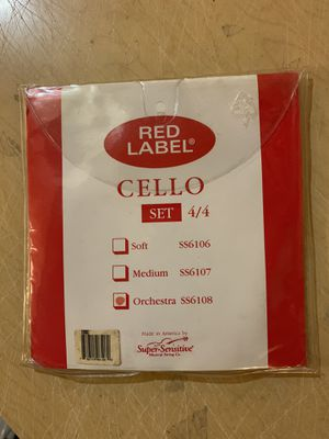 Super Sensitive Red Label 4/4 Cello string set new for Sale in Highland, IL
