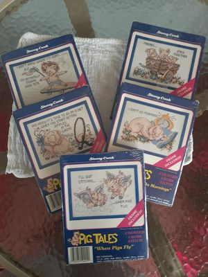 6 Pig Tales Counted Cross Stitch kits for Sale in Church Road, VA