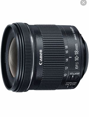 Cannon zoom lens EF-S 10-18mm lens for Sale in Oak Lawn, IL