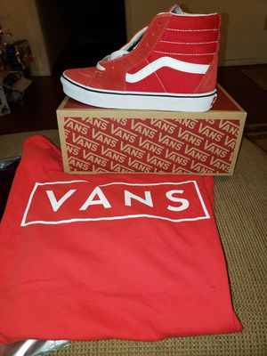 Red & White Vans With Shirt for Sale in Memphis, TN