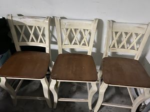 Three farmhouse rustic chairs for Sale in Galt, CA