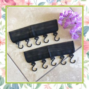 2PC HANGER HOOK BOUTIQUE ORGANIZER CLIPS BLACK BOUTIQUE TRAVEL BOOTH POP UP BOUTIQUE SHOP CONVENTION 5 CLOSET HOME CLOTHES DECOR for Sale in Las Vegas, NV