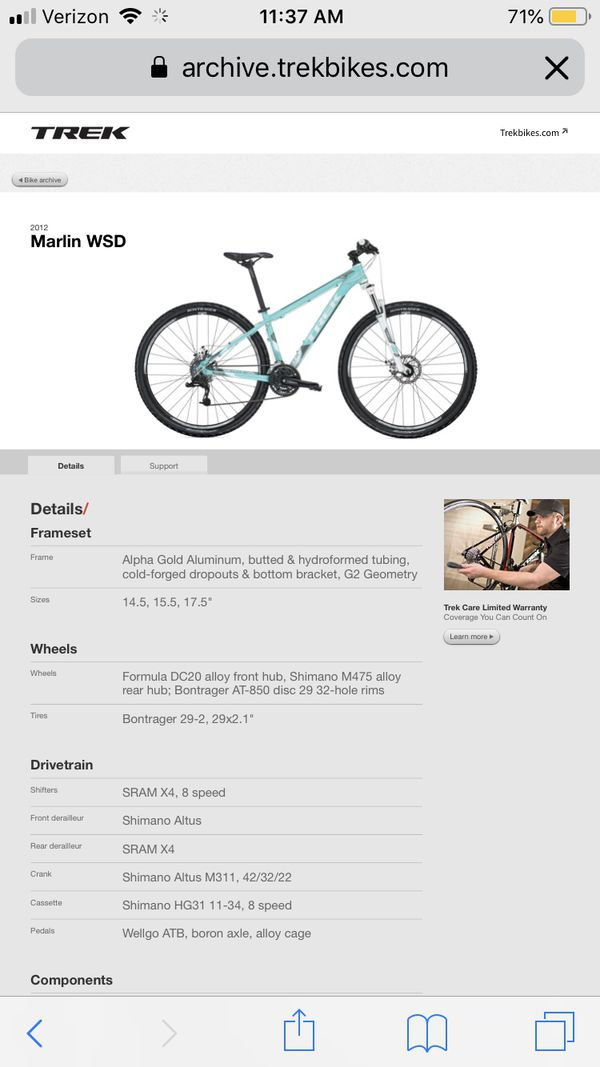 Trek Marlin WSD mountain bike
