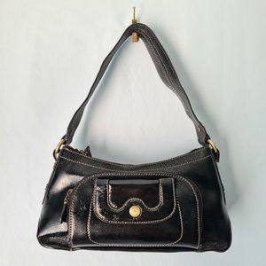 Perlina Black Patent Leather Hobo Bag Multiple Pockets Front Organizer Purse for Sale in St. Petersburg, FL