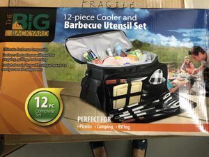 Barbecue cooler and utensil set for Sale in Worcester, MA