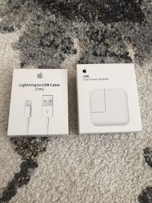 Apple 12w and 1m Charger Set for Sale in Citrus Heights, CA