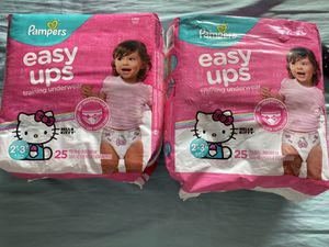 Pampers easy ups 2 for $15 2t-3t for Sale in Westminster, CA