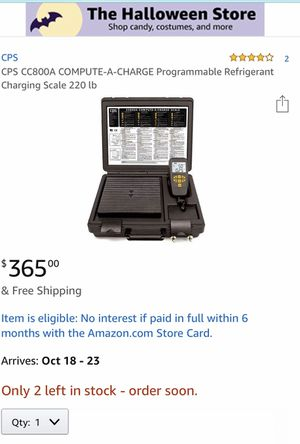 CPS CC800A COMPUTE-A-CHARGE Programmable Refrigerant Charging Scale 220 lb for Sale in Queen Creek, AZ