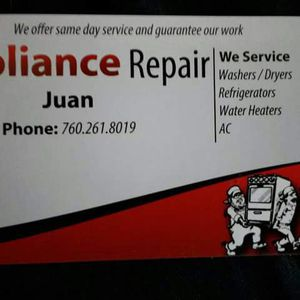 Appliances repair house calls all brand for Sale in Hesperia, CA