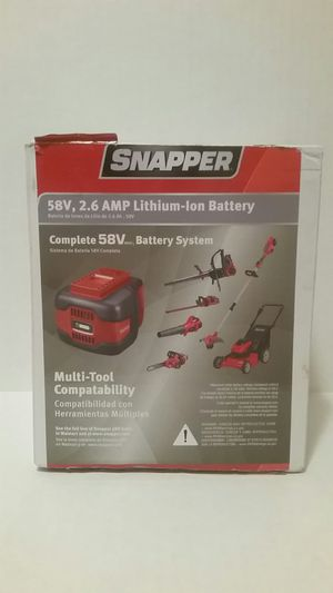 Snapper 58V 2.6 AMP Lithium-Ion Battery Multi-Tool Compatibility SN140i for Sale in Fort Worth, TX