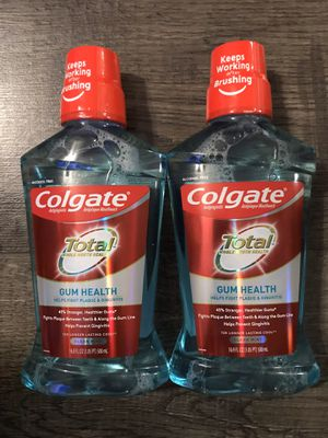 Colgate total gum health 500 ml $2.50 each for Sale in San Bernardino, CA
