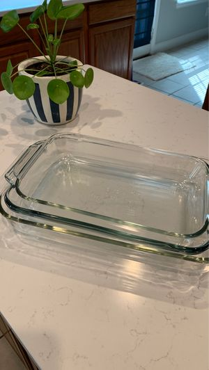 Glass Baking Dish, set of 3 for Sale in Irving, TX