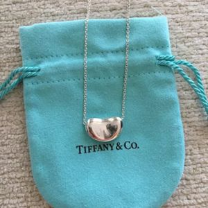 Tiffany & Co. Sterling Silver Elsa Peretti Bean Necklace - with Pouch for Sale in Los Angeles, CA
