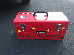 Husky hand painted metal tool box for Sale in Nashville, TN