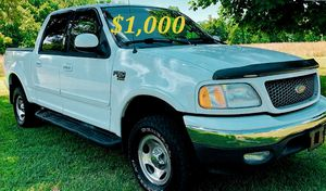 🟢💲1,OOO For sale URGENTLY this Beautiful💚2002 Ford F150 nice Family truck XLT Super Crew Cab 4-Door Runs and drives very smooth V8🟢 for Sale in Gulfport, FL