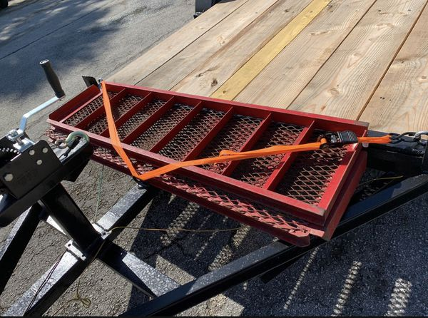 Trailer 6x12 With ramp, winch, jack, tires, chains, good quality wood and new paint