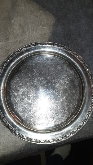 Antique Oneida silversmith silver plated platter for Sale in San Bernardino, CA