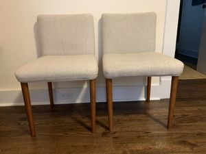 Two West Elm Upholstered Dining Room Chairs for Sale in Seattle, WA
