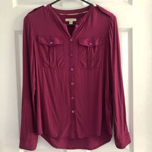 Burberry silk button down blouse size XS for Sale in Boston, MA