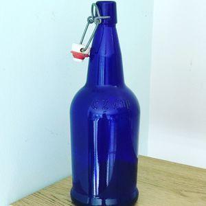 Decorative Cobalt Blue EZ Cap Beer Brewing / Kombucha Making Bottle for Sale in Falls Church, VA