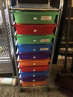 Plastic drawer organizer on wheels for Sale in Las Vegas, NV