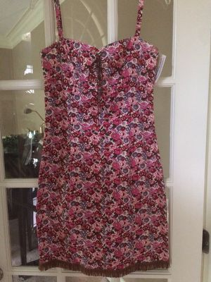 Cute never worn sundress leather fringes size 10 for Sale in Cary, NC