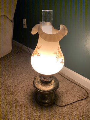 Antique Fenton lamp hand painted for Sale in Greer, SC