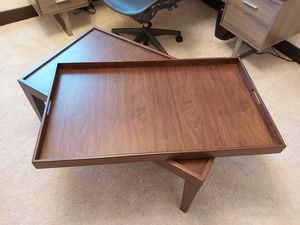 Set of Coffee, Coffee Tray and Side Table, Color Tabac, Sizes 42 x 25 x 17, 40 x 23 x 2 and 28 x 22 x 22 for Sale in Hialeah, FL
