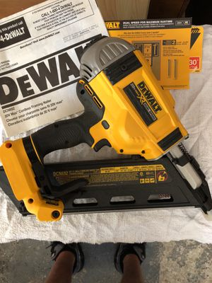 DEWALT 20volt cordless FRAMING Nailer with nails for Sale in Wilmington, MA