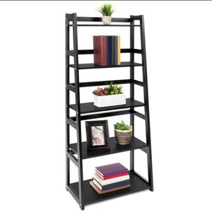 5-Tier Multipurpose Modern Ladder Slant Bookcase Storage Shelf for Sale in Orlando, FL