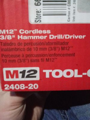 """Milwaukee M12 Cordless 3/8"""" Hammer Drill / Driver for Sale in Sacramento, CA"""